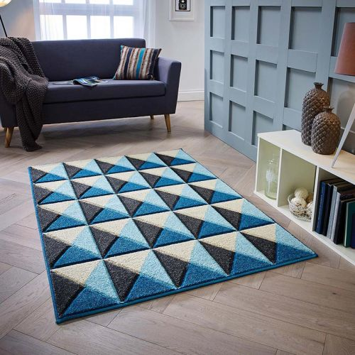 Blue Cream Grey Portland Rug 6994Q