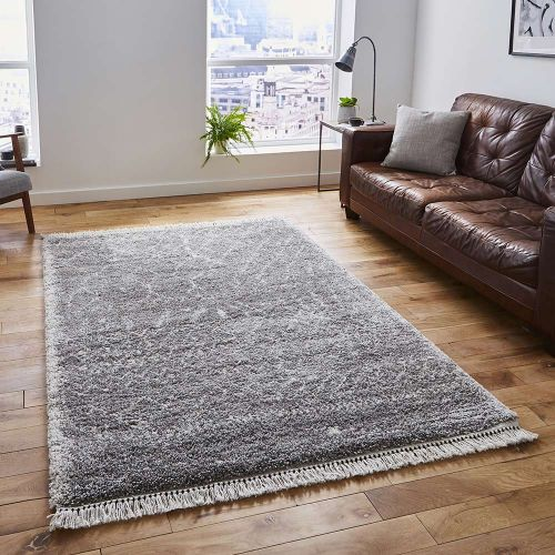 Boho Shaggy Rug 5402 Grey