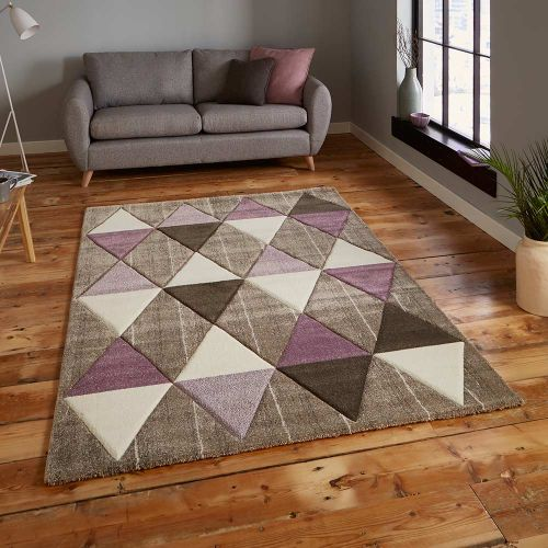Brooklyn Rug 21896 Beige Purple
