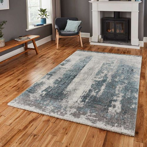 Brooklyn Rug 8595 Ivory Grey Blue