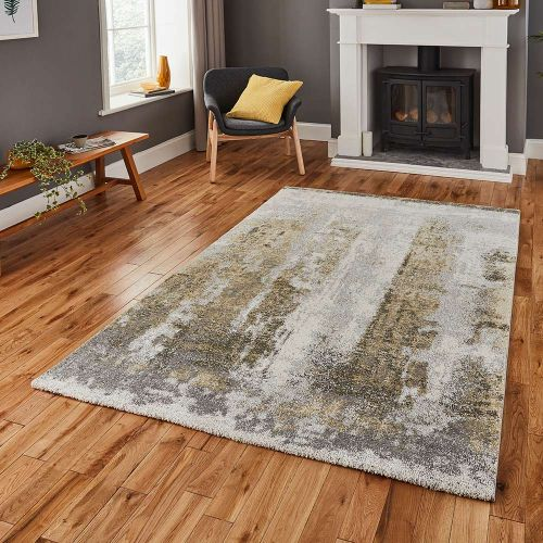 Brooklyn Rug 8595 Ivory Grey Yellow