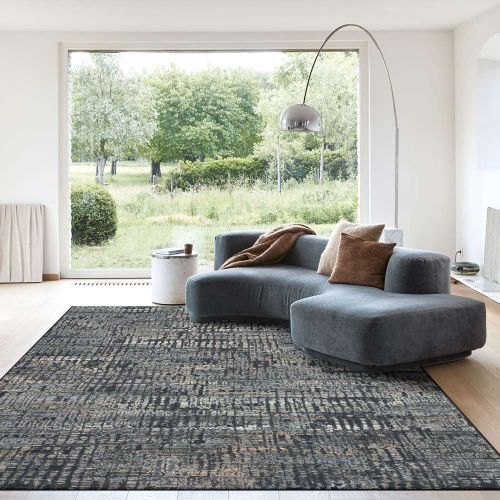Canyon Rug Charcoal Peach Lime 52040 3535
