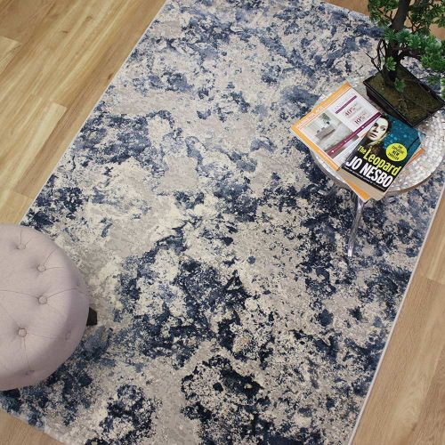 On Sale Canyon Medium Rug Crystal Blue Grey 52005 4222 133x195cm