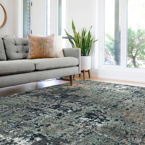 Canyon Rugs Charcoal Pea Peach 52016 3555