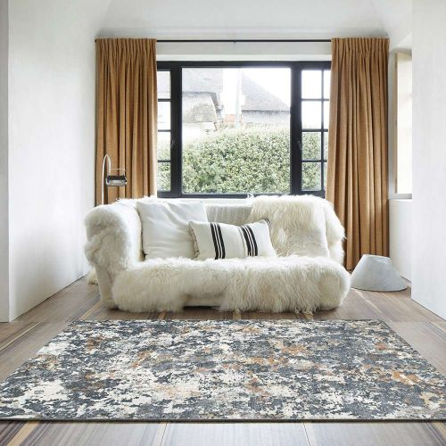 Canyon Rugs Peach Charcoal Bone 52023 3616