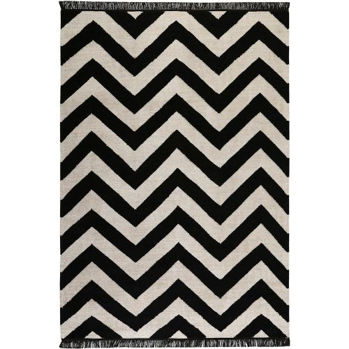 Carpets & Co Zig-Zag Black Rug