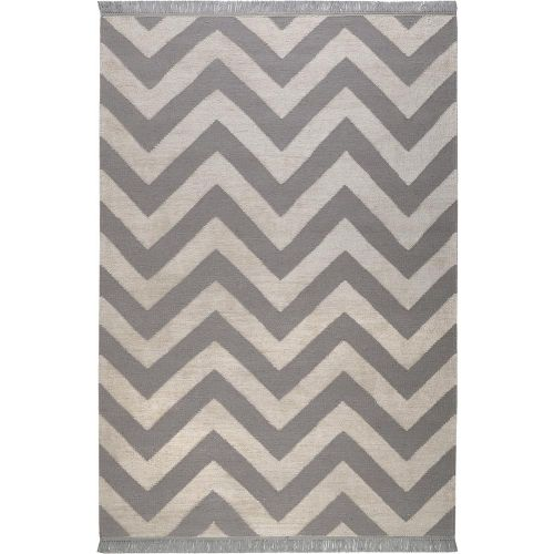 Carpets & Co Zig-Zag Grey-Ice Blue Rug