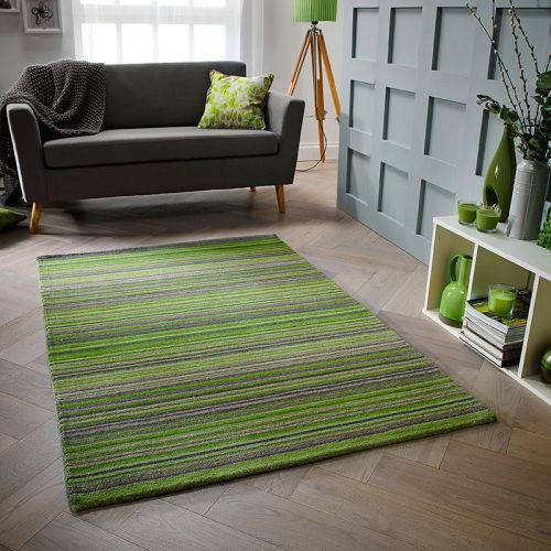 Carter Rug Green Stripe