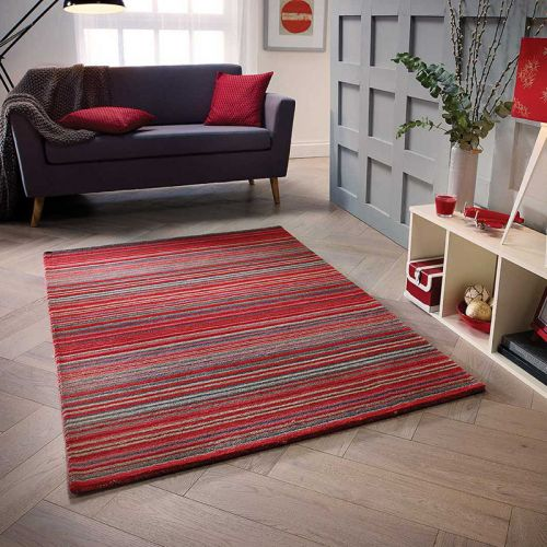 Carter Rug Red Stripe