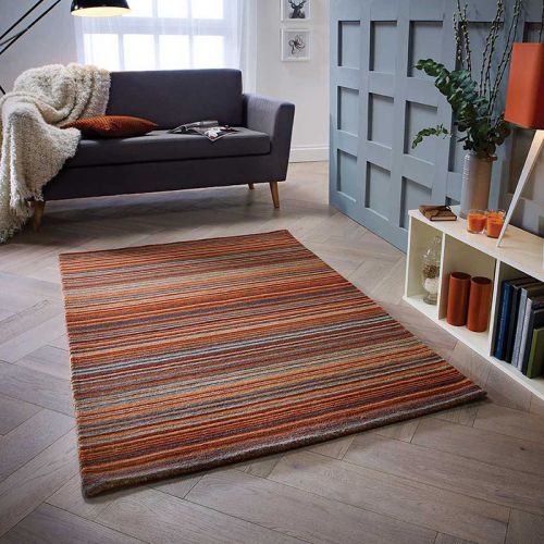 Carter Rug Rust Stripe