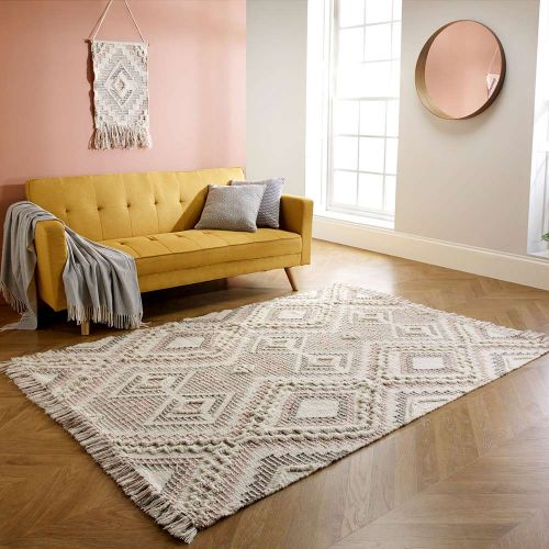 Catalina Blush Pink Diamond Rug