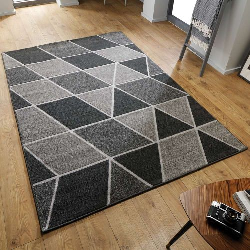 Cheap Grey Trivex Rug