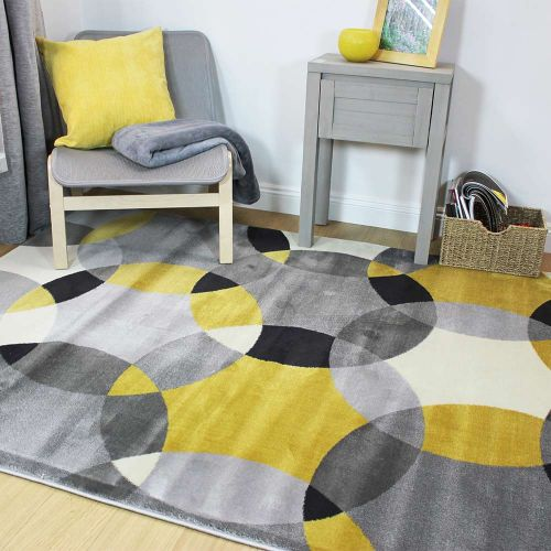 Cocktail Cosmo Circles Rug Grey Ochre