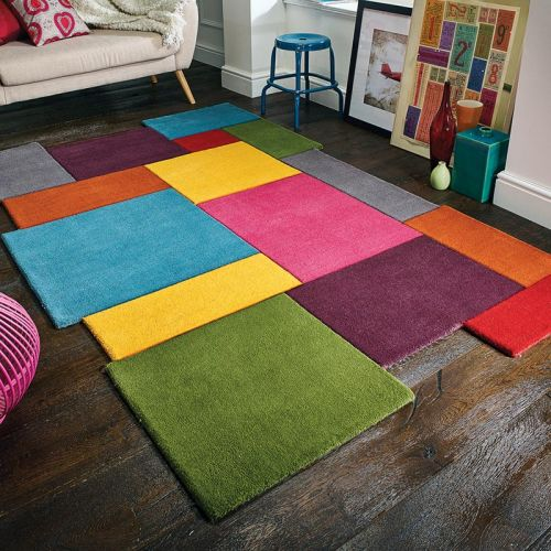 Collage Multi Rug Wool