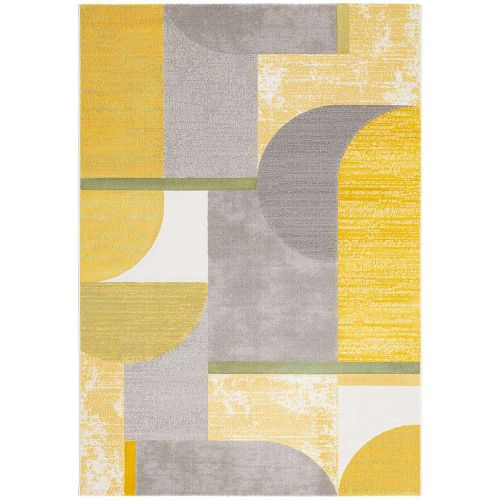 Contemporary Rugs Yellow Grey City AK700
