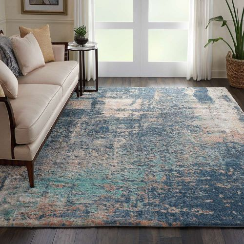 Abstract CORSICA Shag CRC02 Slate Multi Rug