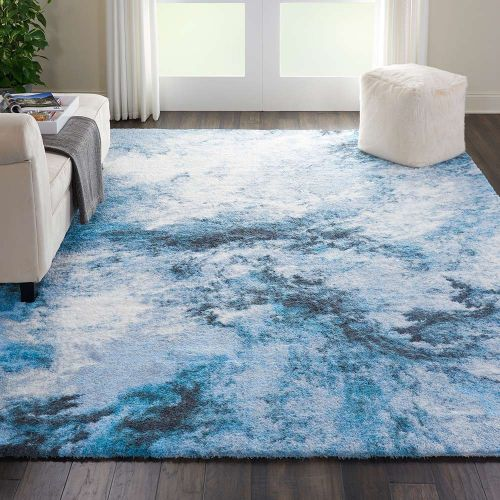Abstract CORSICA Shag CRC04 Blue Multi Rug
