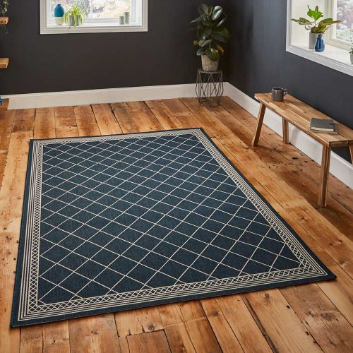 Thin Cottage Rug 7643 Midnight Blue