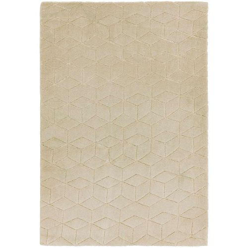 Cozy Rug Plain Beige Geometric