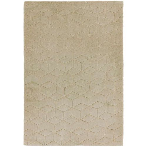 Cozy Rug Plain Sand Geometric