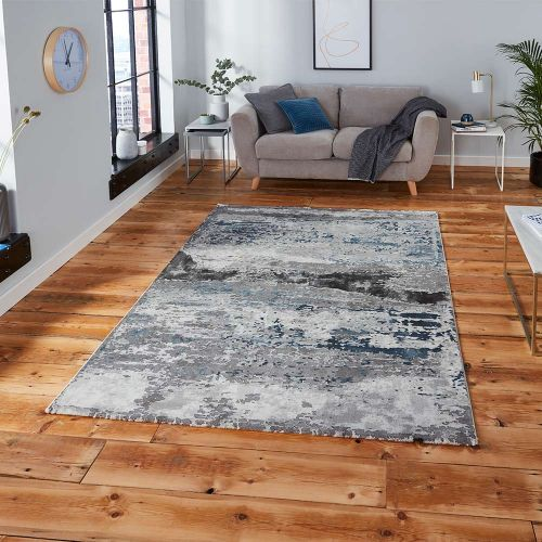 Craft 19788 Abstract Grey Navy Rug