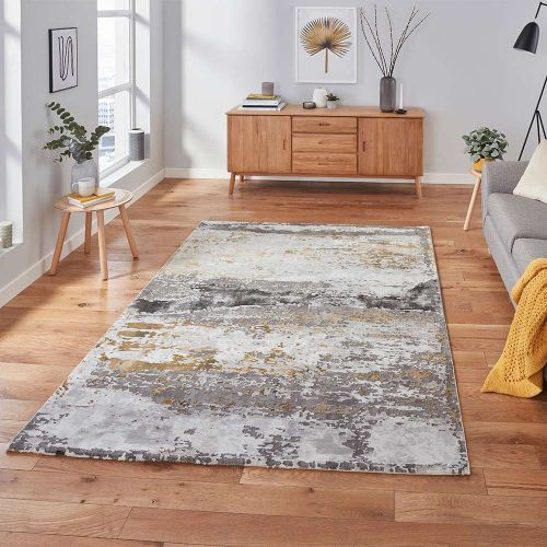 Craft 19788 Abstract Grey Ochre Rug