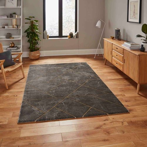 Craft 23486 Dark Grey Gold Rug