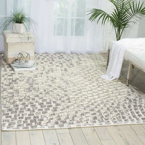 Cream Twilight Rug Paillettes TWI08