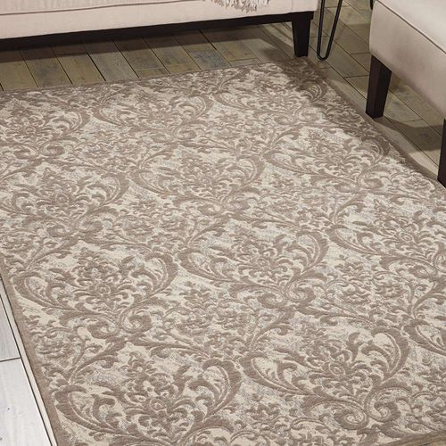 Damask Rug Ivory Grey DAS02