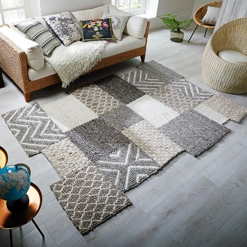 Eclectic Agra Rug Grey