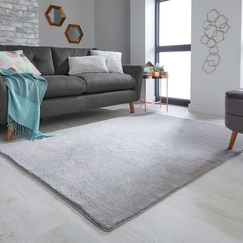 Fluffy Emelia Faux Fur Bergen Grey Rug