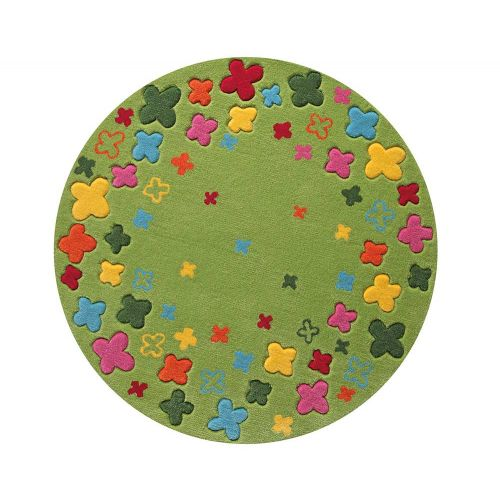 Esprit Bloom Field Green Round Rug