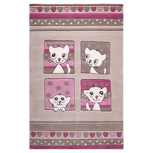 SMART KIDS Kitty Kat Beige Rug