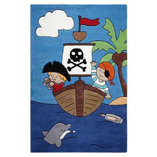 SMART KIDS Pirate Kids Blue Rug
