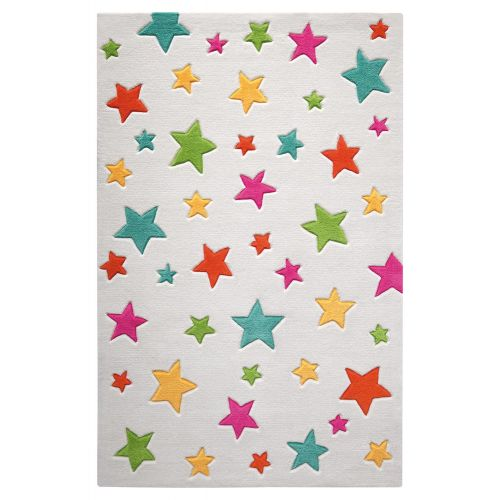 SMART KIDS Simple Stars Cream Multi Rug