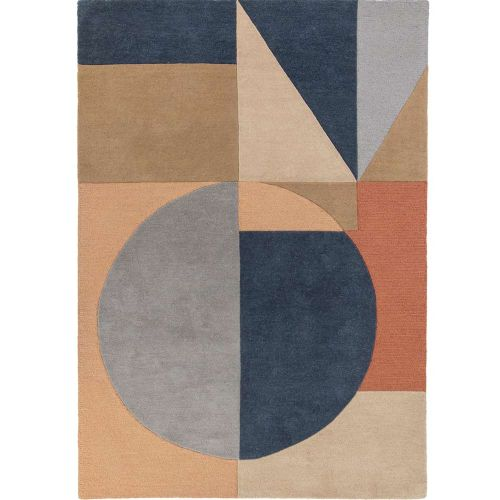 Esre Multi Coloured Wool Rug
