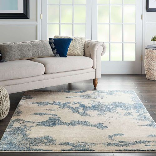 Etchings ETC03 Ivory Light Blue Rug