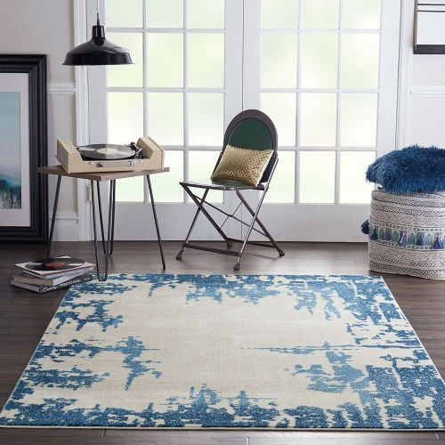 Etchings ETC04 Ivory Blue Rug