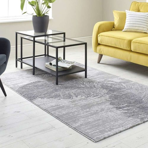 Feather Design Rug Grey High Rise 6520A