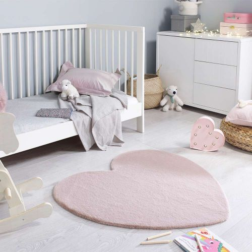 Amour Heart Pink Childrens Rug