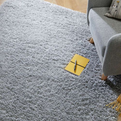 Sparks Grey Shaggy Rug