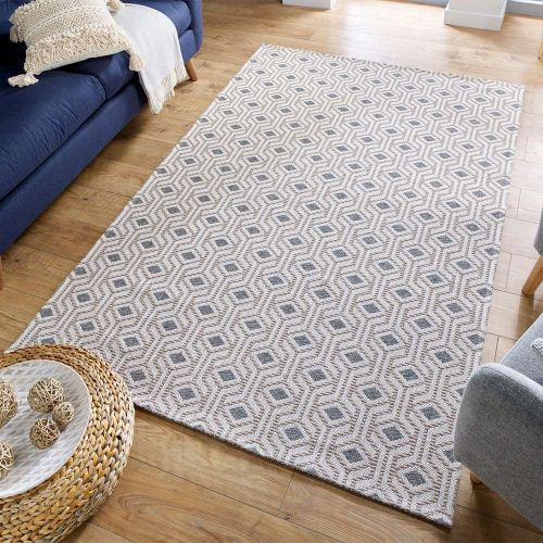 Geometric Bombax Grey Rug