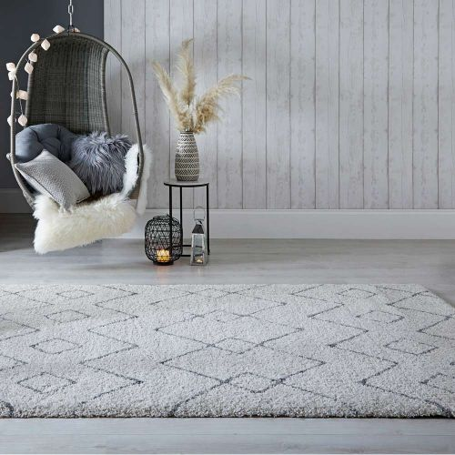 Imari Patterned Cream  Dark Grey Rug