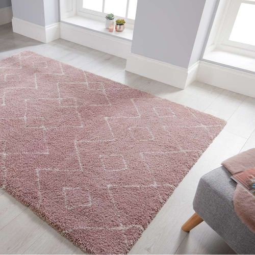 Imari Patterned Pink  Cream Rug