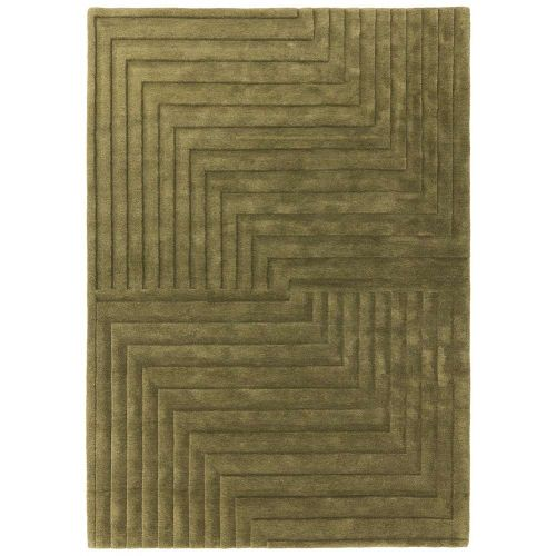 Form Rug Green Colour 3D Wool Pile