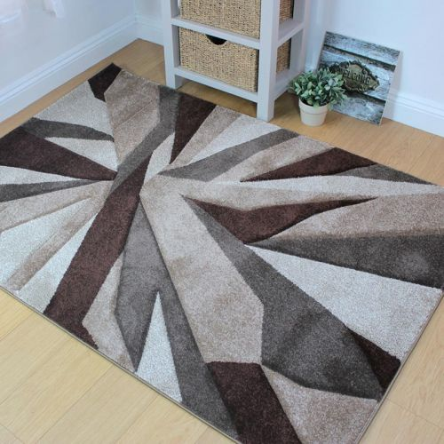 Funky Carved Rug Beige Brown
