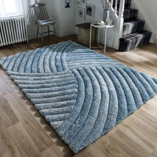 Furrow Rug 3D Silky Duck Egg