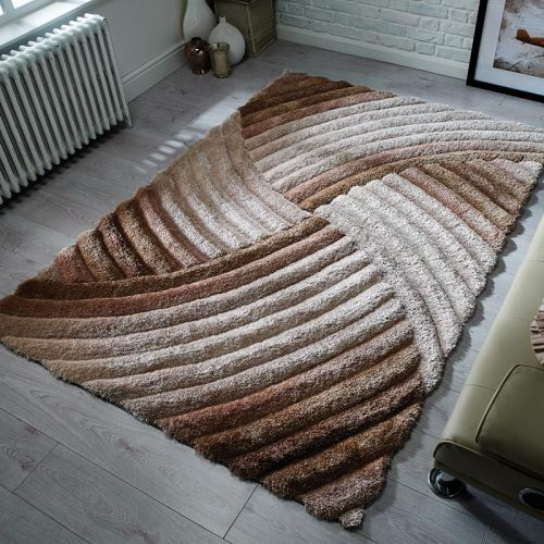 Furrow Rug 3D Silky Natural