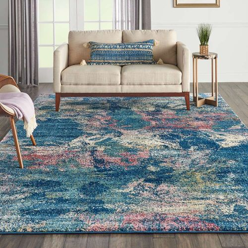 Abstract Fusion FSS17 Blue Multi Rug