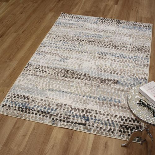Fusion Rug 0704 Brown Blue Cream